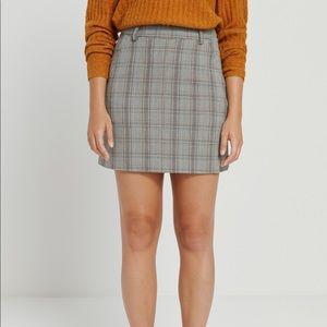 Frank and Oak tartan plaid mini skirt